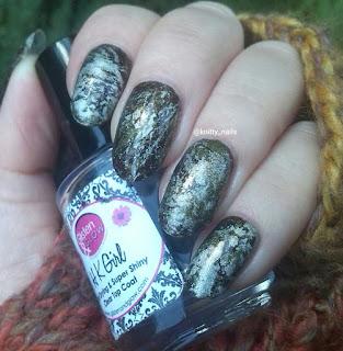 Splatter -  SV by Sparkly Vernis Gilded Lemon Drops  and A England Fotheringhay Castle