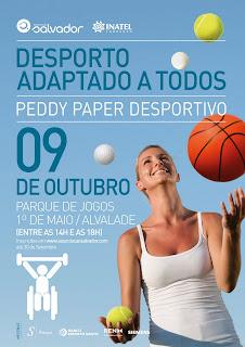 Cartaz do Peddy Paper desportivo para pessoas com mobilidade reduzida
