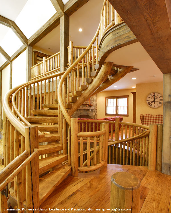 Log Cabin Staircase Designs