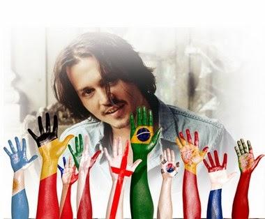 efecto de fotos manos con banderas