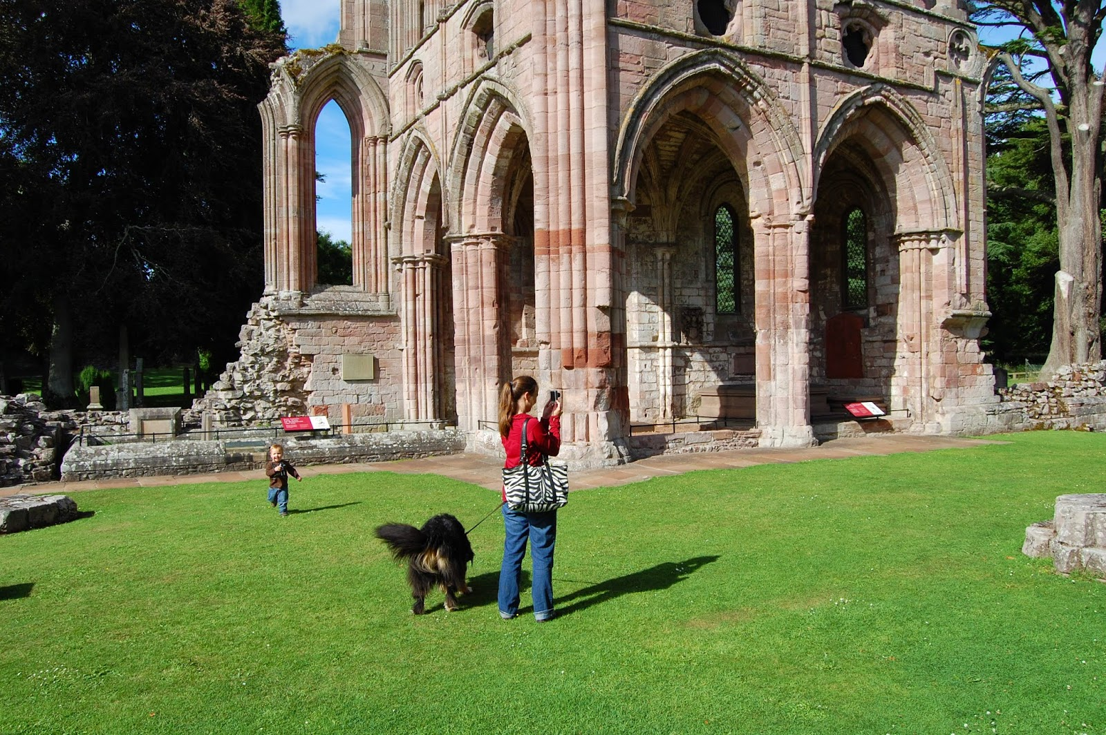 Sir Walter Scott's tomb at Dryburgh Abbey