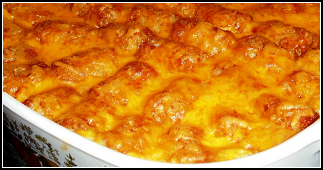 Sandra's Alaska Recipes: SANDRA'S EASY CHEESY TATER TOT CASSEROLE