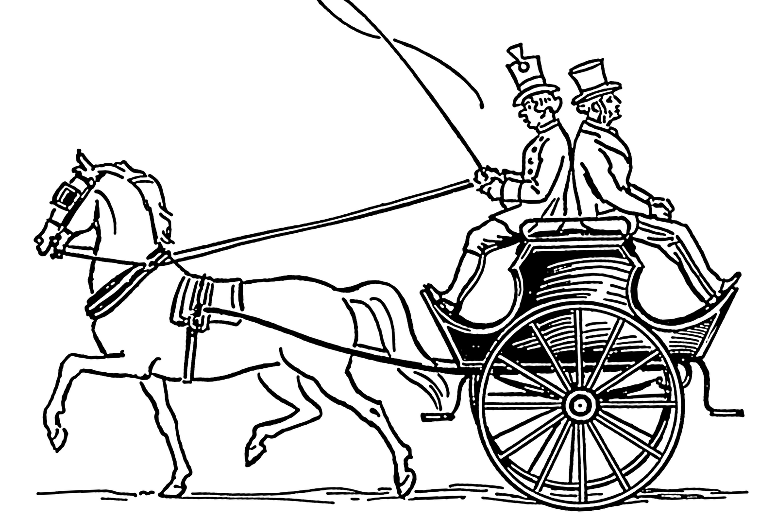 santa horse buggy coloring pages - photo#19
