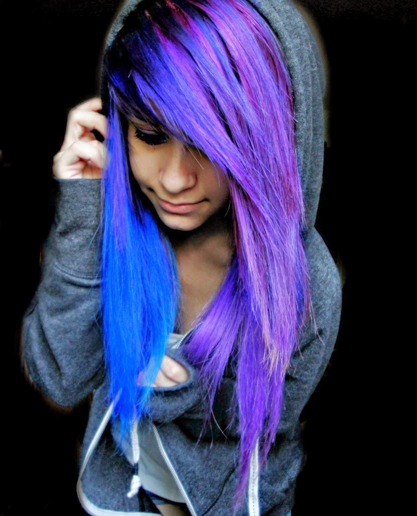 cute scene girl with purple hair wwwpixsharkcom