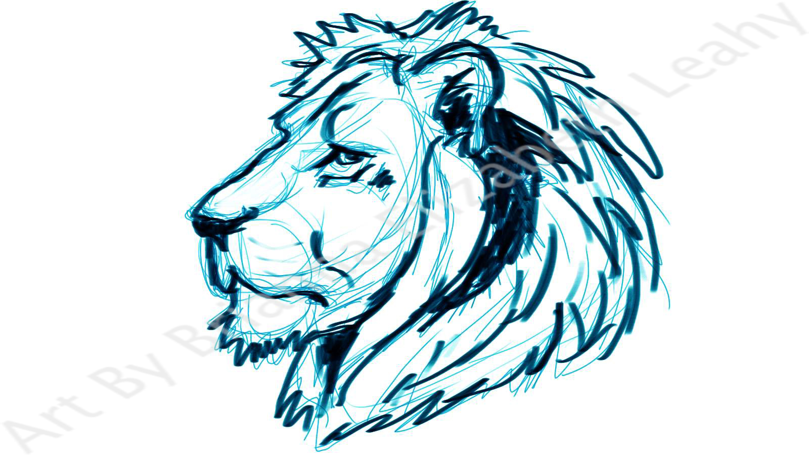 Lion Side View Sketch Tattoo concept: lion's head