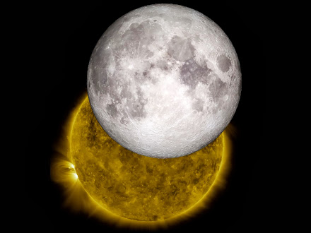 MOON TRAVELING ACROSS THE SUN