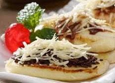 resep makanan kue basak pancake keju spesial praktis, mudah, enak, legit, lezat