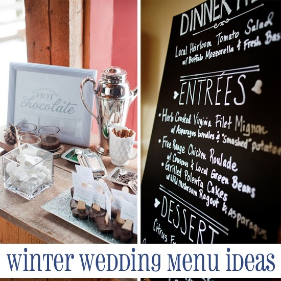 Winter Wedding Menu Ideas