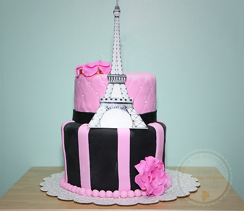 The Orange Apron Cakery Paris Eiffel Tower Birthday Cake