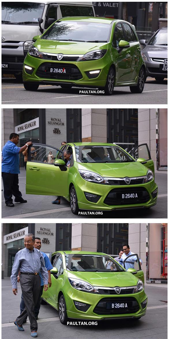 Tun Mahathir Orang Pertama Pandu Proton Iriz - HairanBlog
