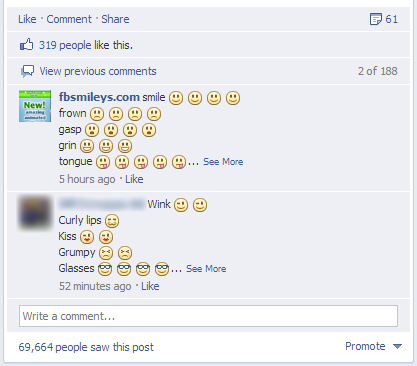 Facebook Emoticons Are Now The