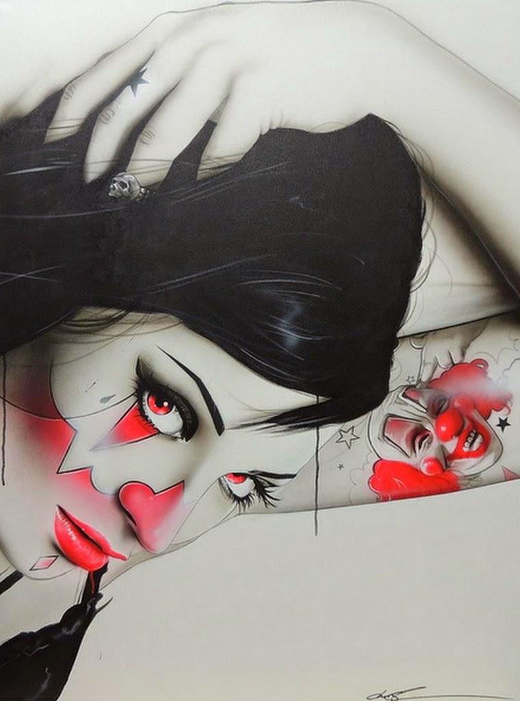 rostros-de-mujeres-pintados-al-oleo-fotografías