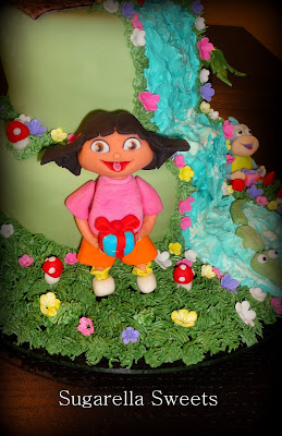 How to make Dora the explorer cake topper