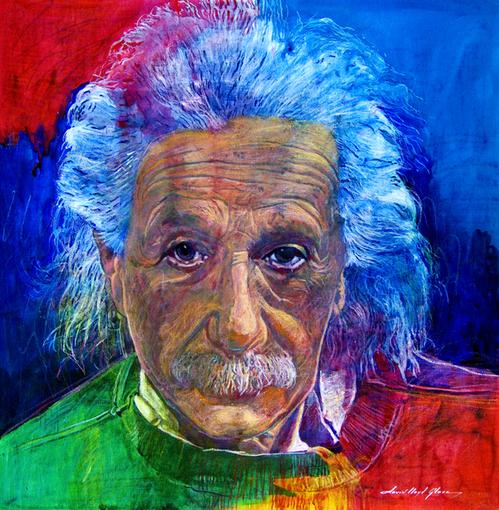 David Lloyd Glover - American painter | Albert Einstein 1879-1955