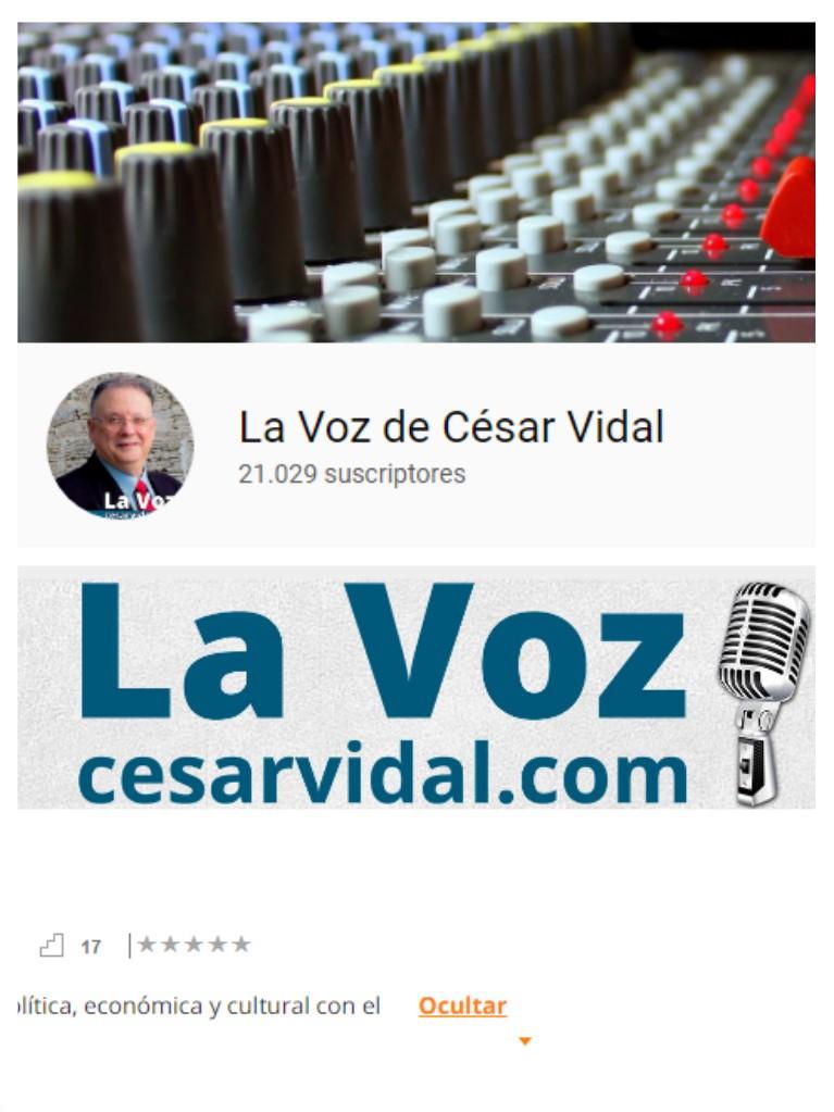 LA VOZ DE CÉSAR VIDAL (Clic en foto)