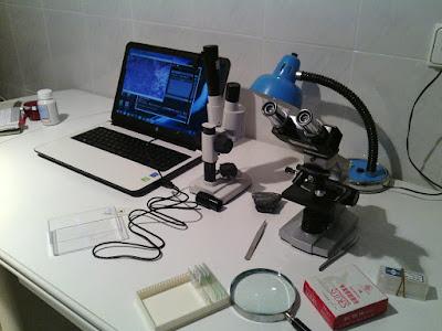 Laboratorio de microscopía de bajo coste
