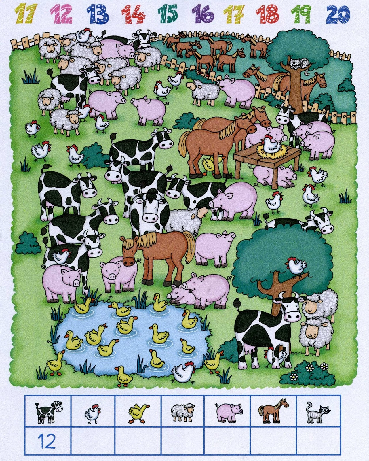 Baby potatoes: Counting farm animals