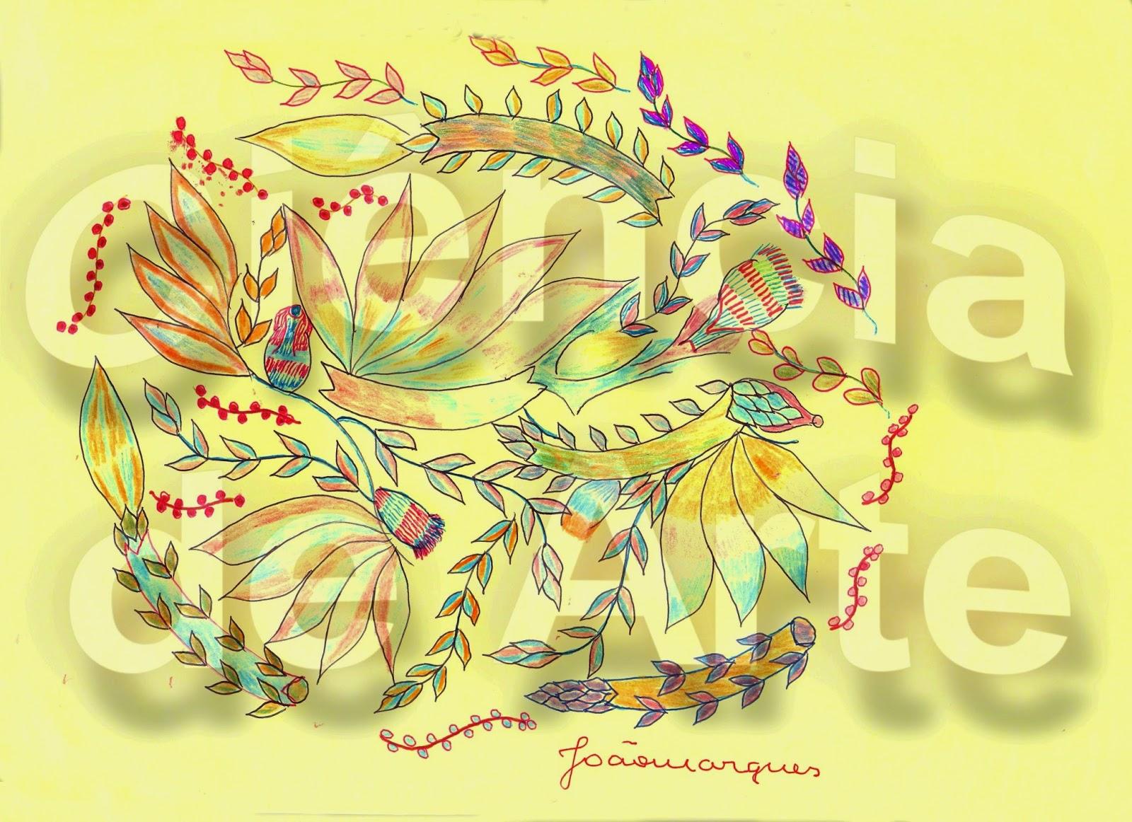 desenhos de ramos de flores 4
