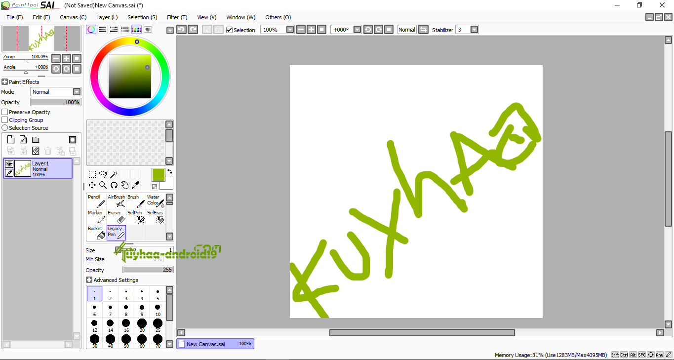 Paint Tools SAI full