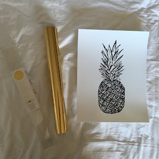 Gold rush, Pineapple, DIY Gold Foil Print, DIY, DIY gold foil, gold foil print, do it yourself, gold print, DIY gold print, free tutorial, DIY tutorial, gold print tutorial, gold foil print tutorial, Act Like A Ladie, #paintedladie, ActLikeALadie.com, LadieKatie, Ladie Katie