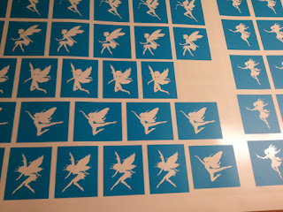 Fairy Glitter Tattoo Stencils
