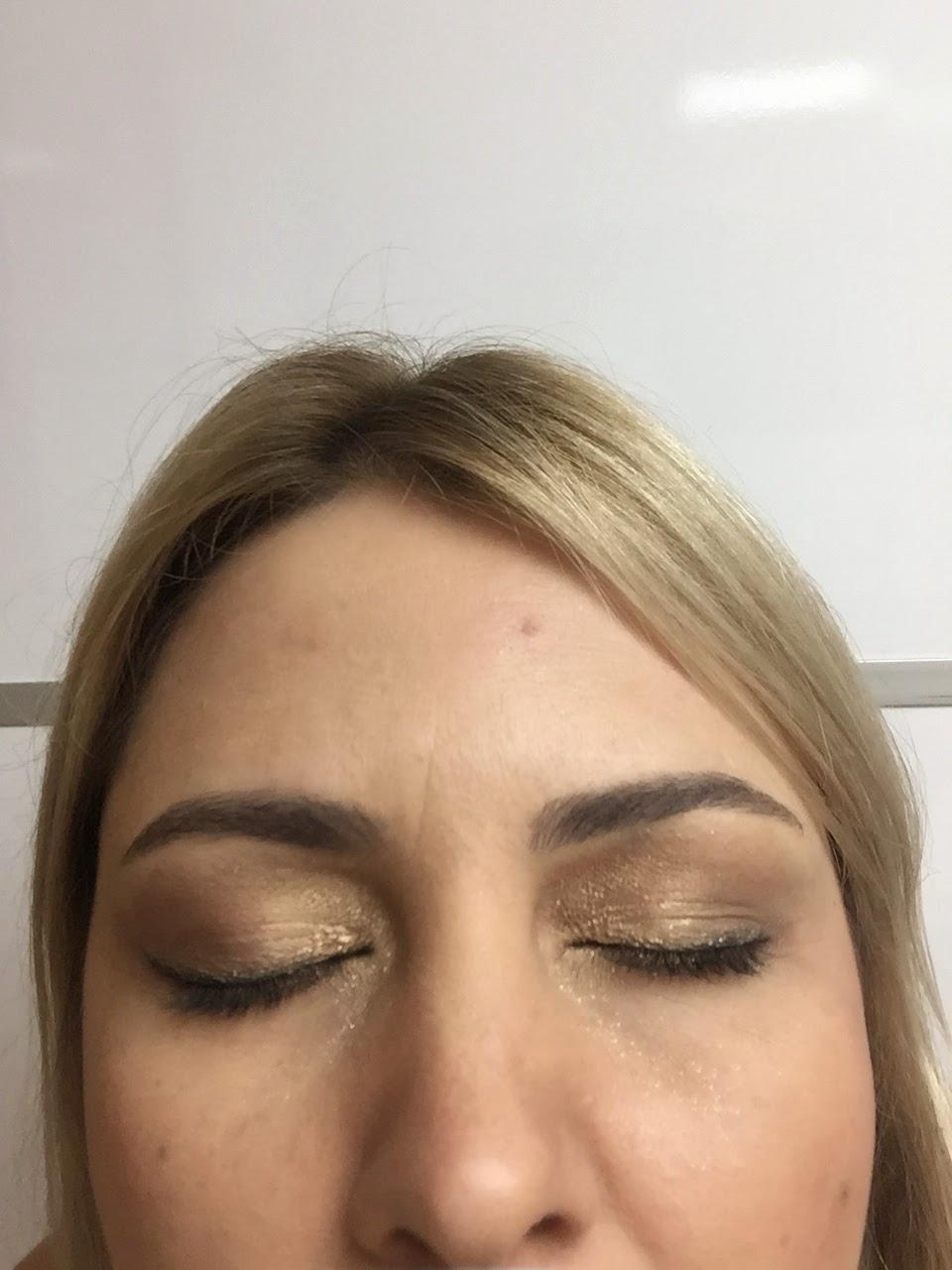 loucasporshampoo makeup ombre sombra dourada trio Baked elke