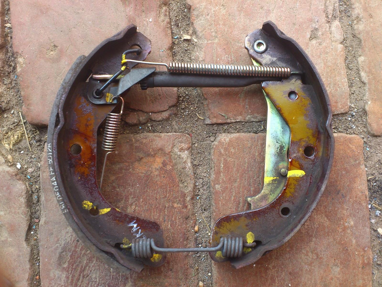 Фото ремонта задних колодок daewoo lanos 5