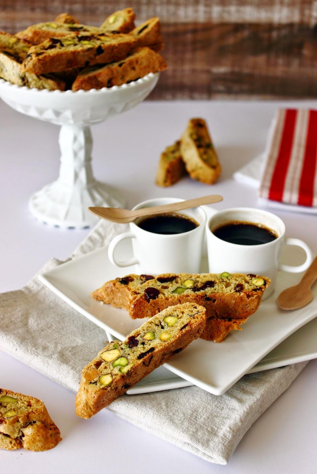 Pistache & cranberry biscotti