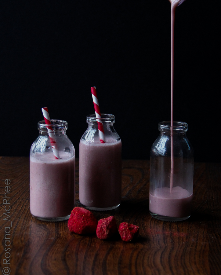 strawberry cashew milk shake recipe dishmaps milkshake trio strawberry ...