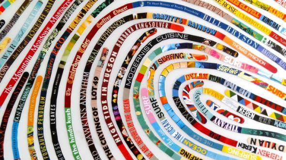 Cheryl Sorg impressão digital livros revistas recortes arte