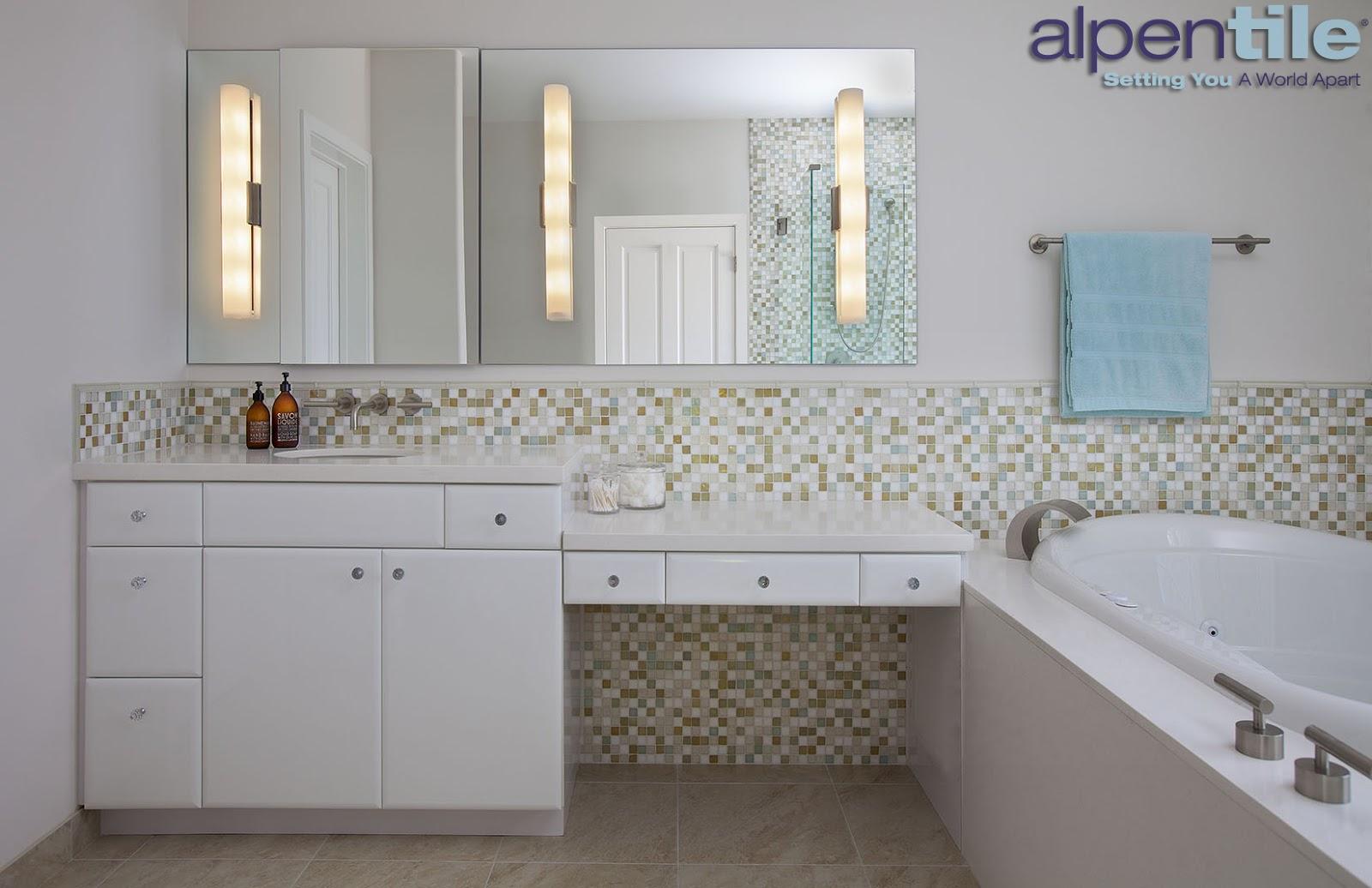 Alpentile Glass Tile Swimming Pools Contemporary Bright Bathroom