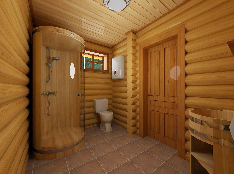 Душевая в деревянном доме своими руками фото