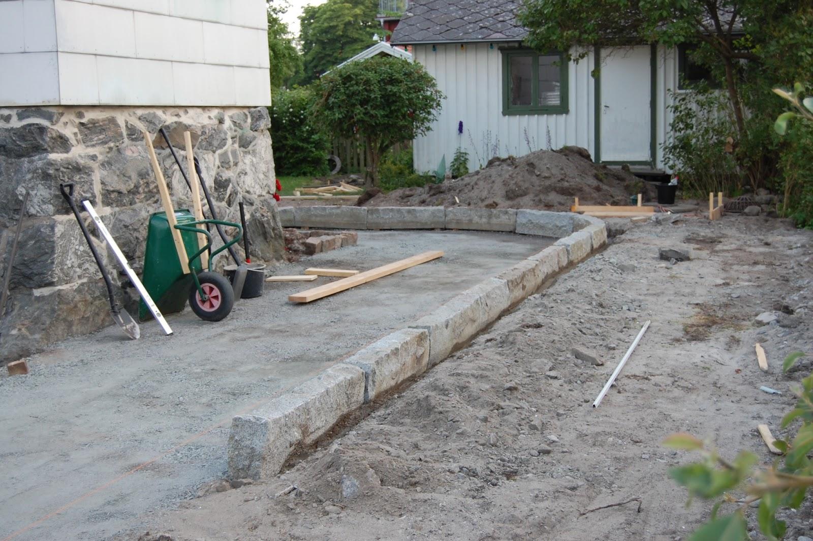 sätta kantsten i betong