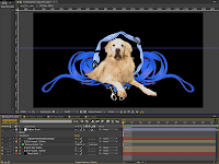 Max placed in front of the Leash / Collar layer in Adobe After Effects.