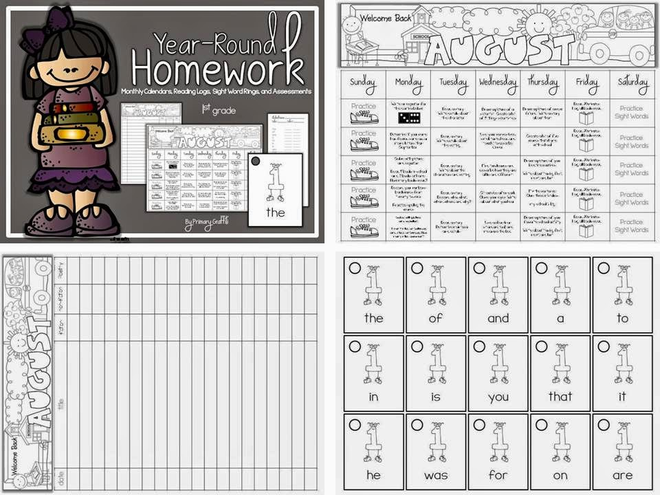 http://www.teacherspayteachers.com/Product/Year-Round-1st-Grade-Homework-945140