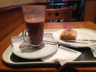 Costa Tuna Panini and Hot Chocolate