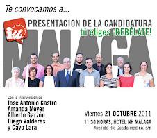 Candidatura de IU Elecciones Generales. Málaga