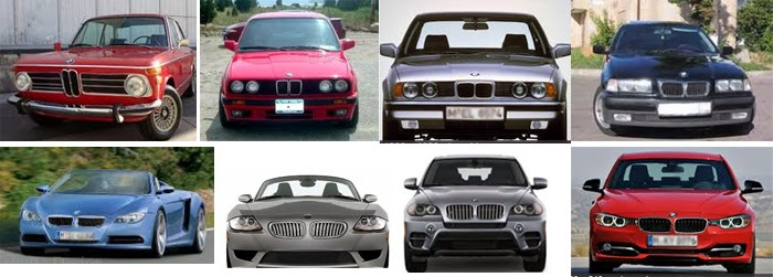 "BMW's ""kidney"" grill over the years"