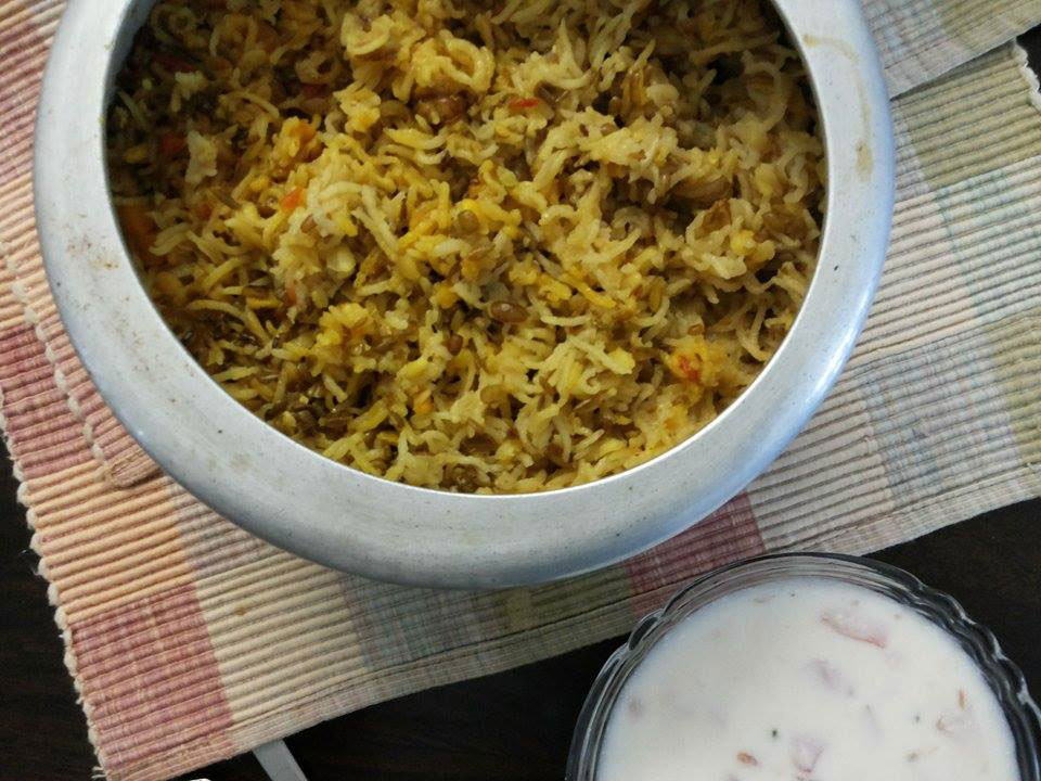 Green moong dal khichdi recipe cooking up something nice ingredients for the green moong dal khichdi kichdi basmati riceor any other rice of your choice 1 cup washed and drained ccuart Choice Image