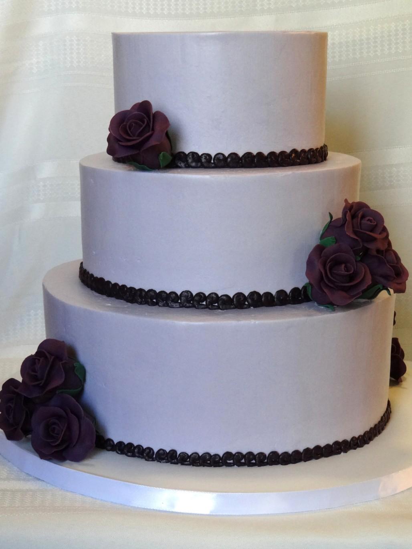 Tiers of Joy Cakery Purple Rose Wedding Cake