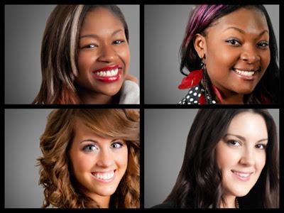 American Idols Amber, Candice, Angie, Kree