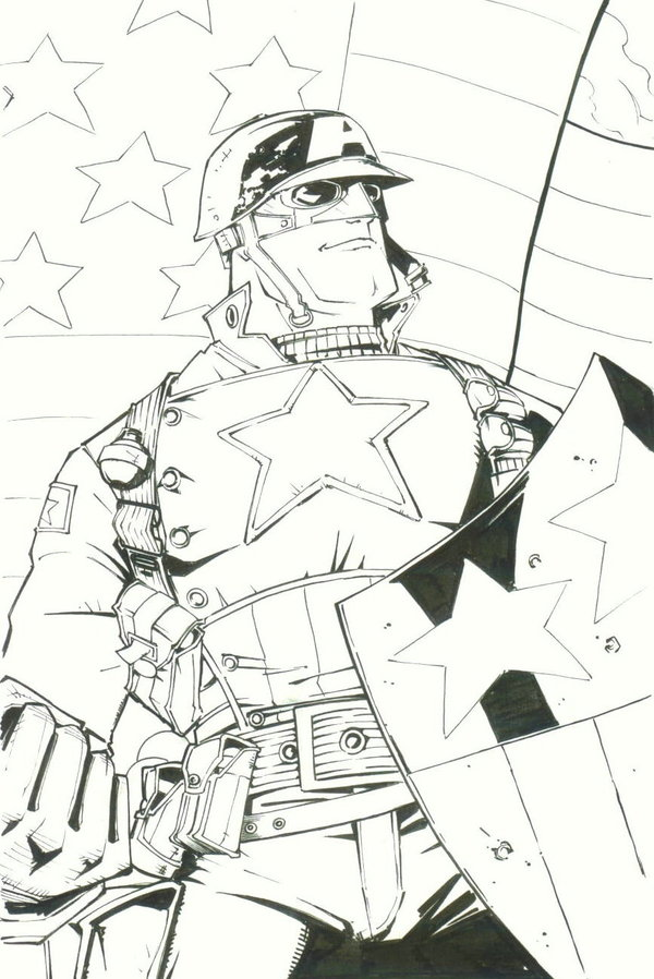 sketchy : WWII Captain America por KidNotorious