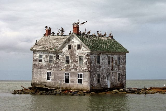 Casa abandonada en Holland Island, Chesapeake Bay, Estados Unidos