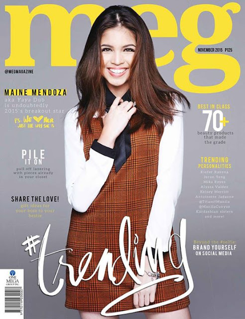 Maine Mendoza Meg Magazine November 2015 Issue