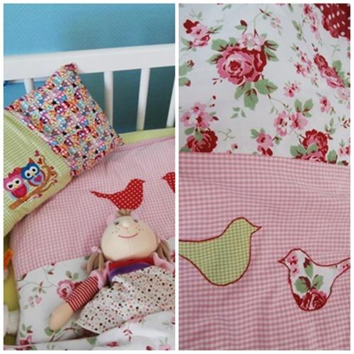 Kinderzimmer Bett Decke Nähen DIY Eulen
