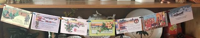 vintage postcard garland - make one from you vintage postcard collection - The Cedar Chest blog