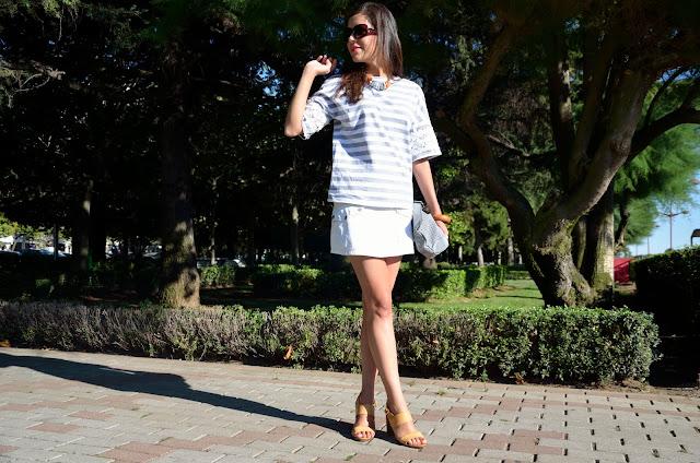 skirt-white-rayas-stripes-look-summer-verano-mini-falda