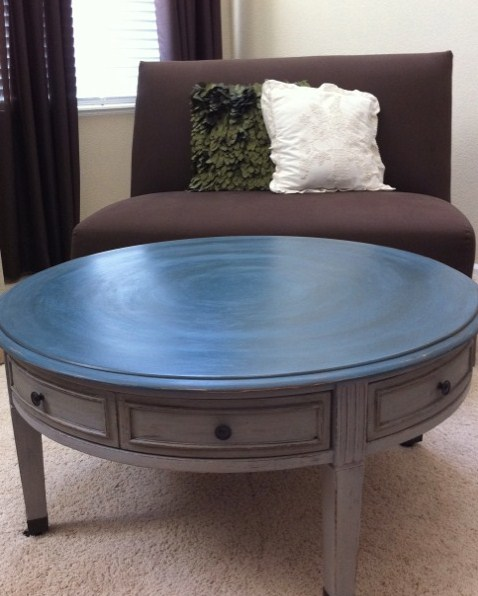 French Linen Chalk Paint Coffee Table