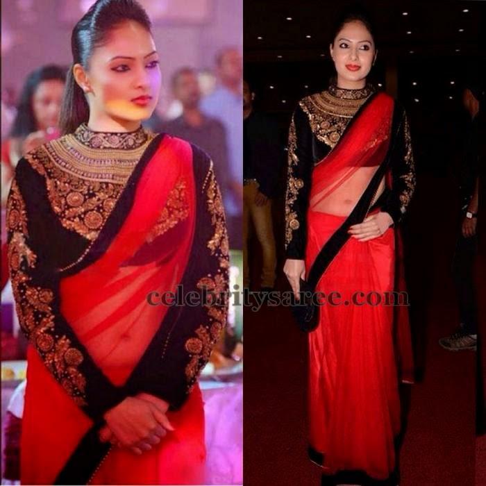 Nikesha Patel Long Sleeves Blouse