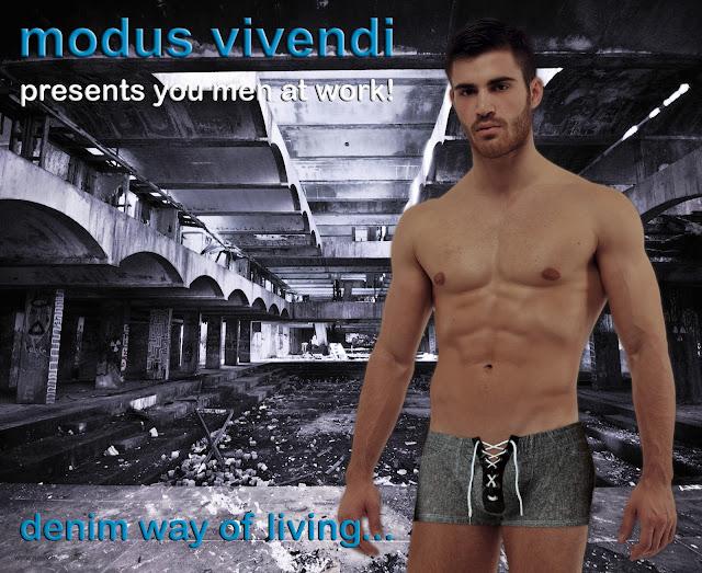 modus vivndi black denim line boxers